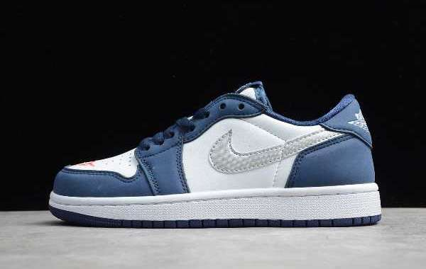 "2020 Nike SB x Air Jordan 1 Low ""Midnight Navy"" CJ7891-400 Latest Release"