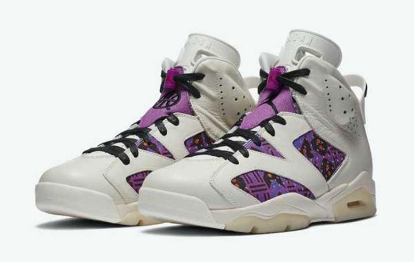 """Unique ethnic design Air Jordan 6 """"Quai 54"""" Sports Shoes For Sale CZ4152-100"""