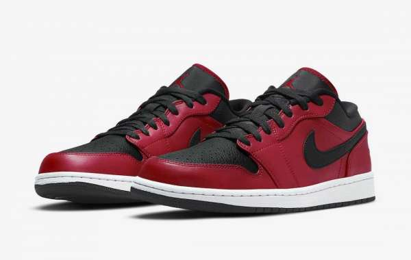 "553558-605 Nike Air Jordan 1 Low ""Gym Red"" Sneakers Coming Soon"