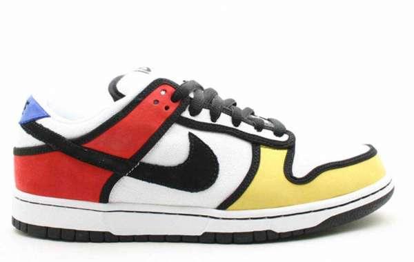 "Hot Sale Nike SB Dunk Low ""Piet Mondrian"" Skateboard Shoes 304292-702"