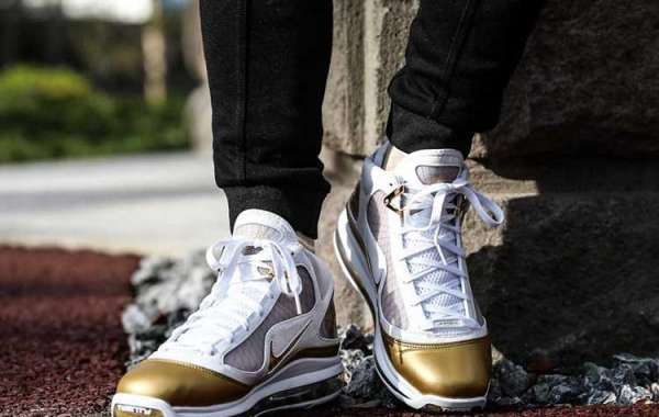 "Nike LeBron 7 ""China Moon"" White/Metallic Gold 2021 New Release CU5646-100"