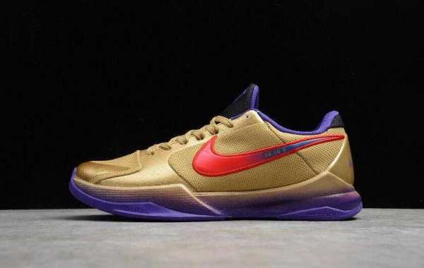 2021 Nike Kobe V Protro Undftd Gold Purple Red Hook for Online Sale