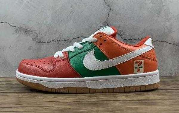 Latest Nike SB Dunk Low Pro CZ5130-600 Red Green Orange White Sneakers