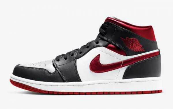 "554724-122 Air Jordan 1 Mid ""Metallic Red"" For Sale"