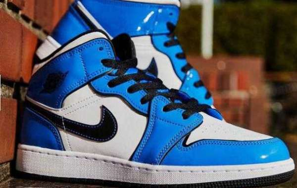 Grab your money to cop the Air Jordan 1 Mid Signal Blue White Once it drops