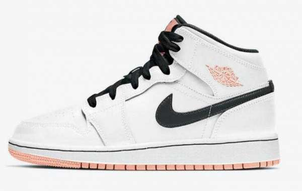 Air Jordan 1 Mid GS Releasing the Arctic Orange New Colorway