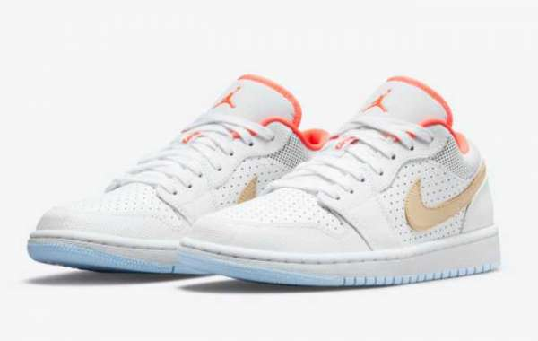 "Latest Release Air Jordan 1 Low SE ""White Sesame"" For Sale DC9509-100"