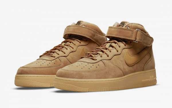 "Buy Nike Air Force 1 Mid ""Wheat"" Unisex Sneakers More On Saleretrojordan.com"